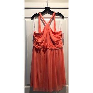 David's Bridal I Coral Reef Bridesmaid Dress I NWT